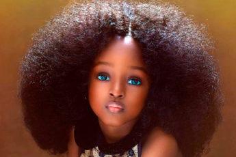Фотографии самой красивой девочки из Нигерии, которая в 5 лет стала знаменитой моделью