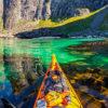 Каякер делает потрясающие фотографии норвежских фьордов и публикует их в Instagram